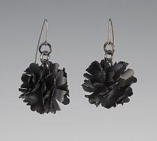 Genevieve Earrings by Kathleen Nowak Tucci (Silver & Rubber Earrings)