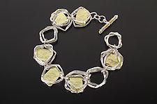 Aqua Bracelet by Sana  Doumet (Silver & Gold Bracelet)
