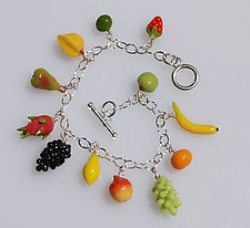 Fruit Punch by Carolyn Tillie (Polymer Clay Bracelet)