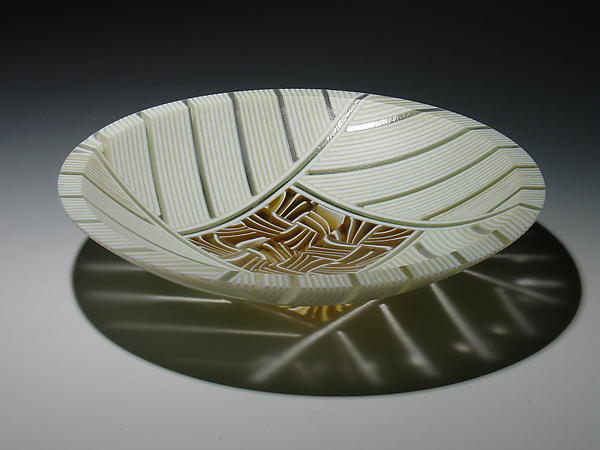 Amber Feathers Bowl