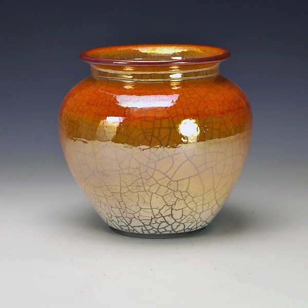 Short Golden Raku Vessel