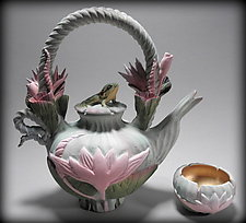 Waterlily Tea by Nancy Y. Adams (Ceramic Teapot)