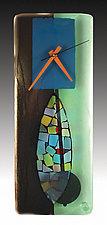 Portal Fused Glass Pendulum Clock by Nina  Cambron (Art Glass Clock)