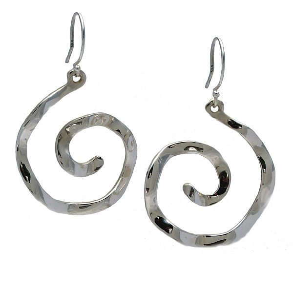 Wavy Spiral Large Symbol Earrings