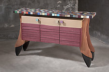 Roadside Attraction with Friendship Quilt for a guy I Love by Brent Skidmore (Wood Sideboard)