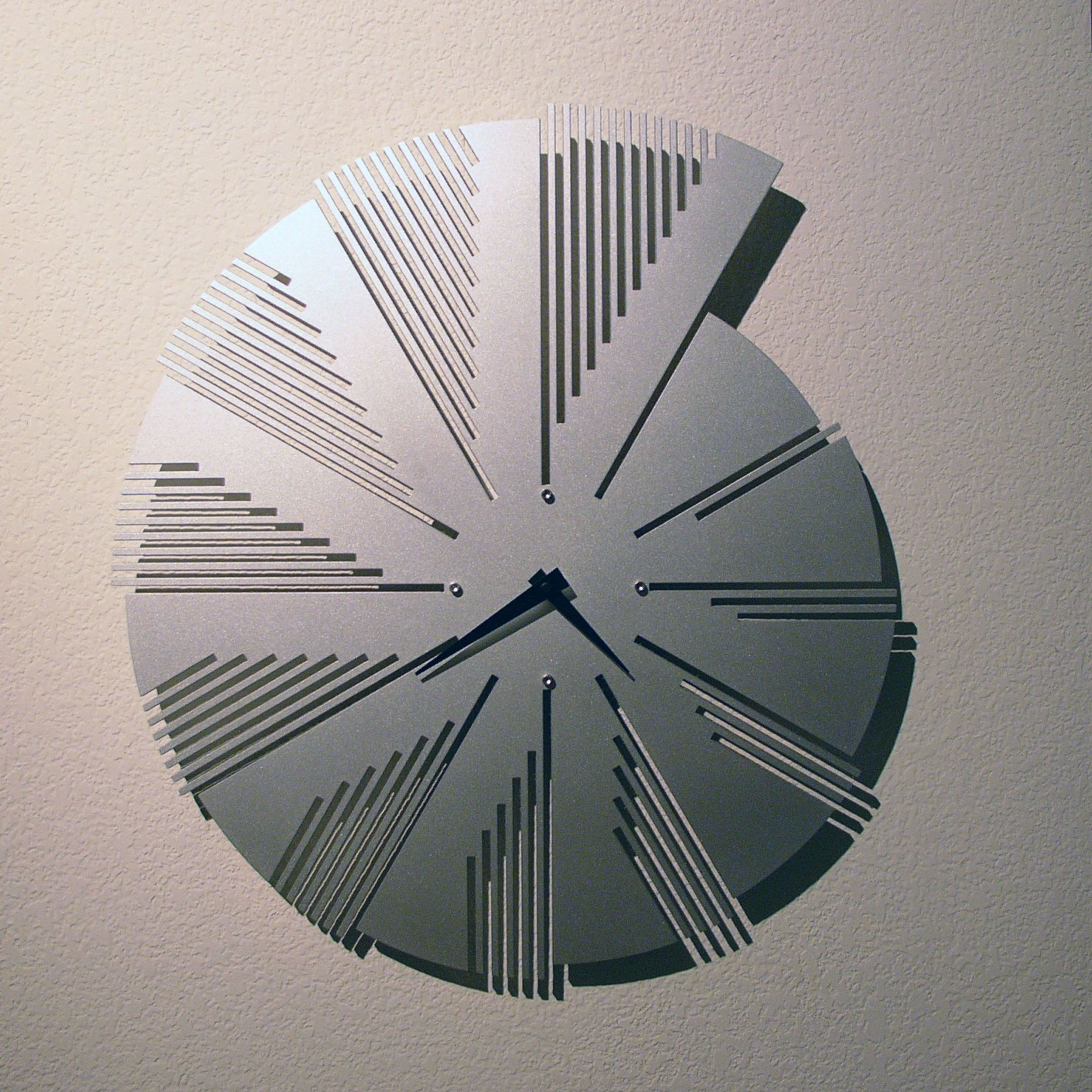 Time Flies Wall Clock by John Nalevanko (Metal Clock ...