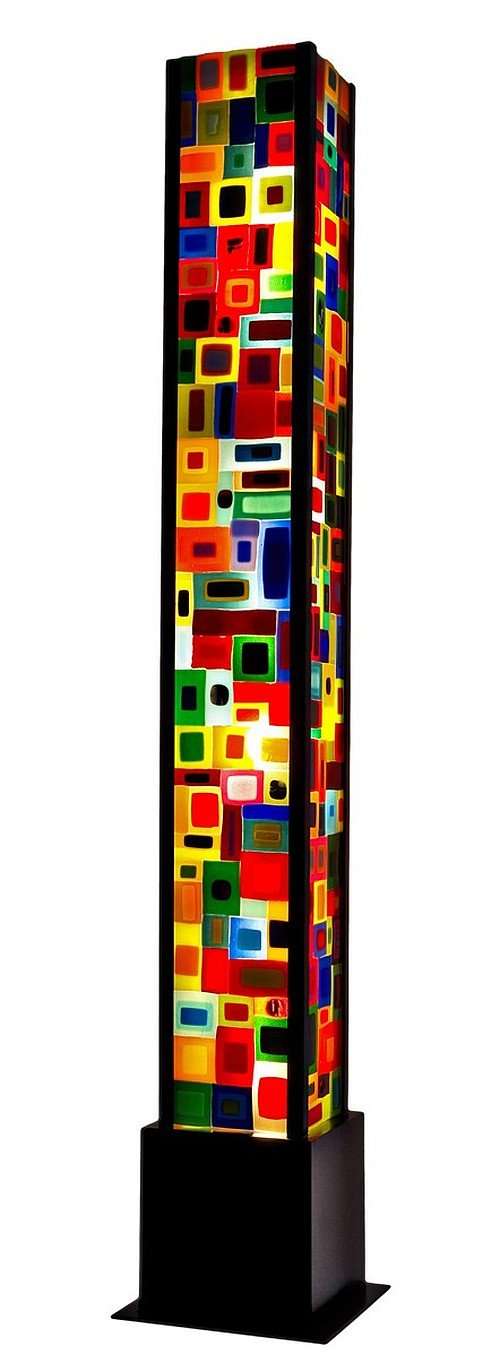 Carnival Floor Lamp By Helen Rudy Art Glass Floor Lamp