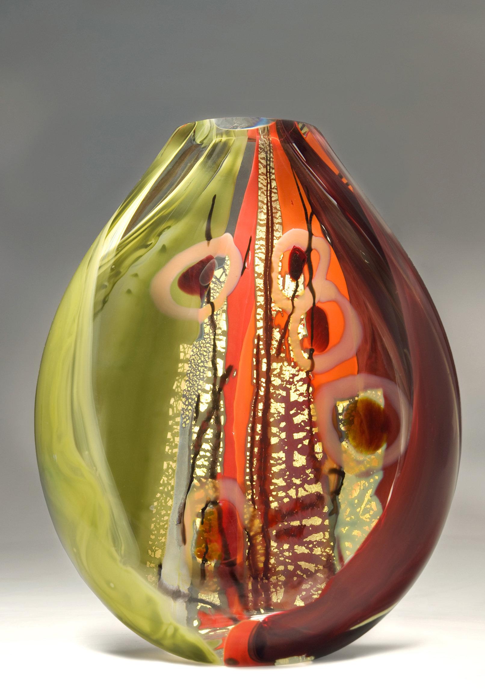 Large Glass Vessel : Sedona by Randi Solin (Art Glass Vessel) Artful Home