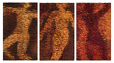 Figures Triptych by Tim Harding (Fiber Wall Art)