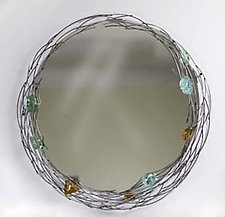 Glass Rock Mirror by Ken Girardini and Julie Girardini (Metal Mirror)