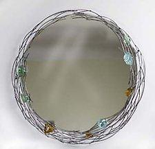 Glass Rock Mirror by Ken Girardini and Julie Girardini (Metal Mirror)