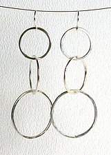 Medium Circle Link Earrings by Kristin Lora (Silver Earrings)