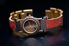 Copper Floral Watch by Eduardo Milieris (Metal Women's Watch)