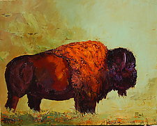 Tatonka of the Plains by Ritch Gaiti (Oil Painting)