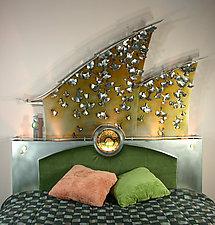 Ginkgo Leaf Headboard by David Sleightholm (Metal Headboard)
