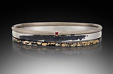 Bangle Trio by Pat Flynn (Gold, Silver, & Stone Bracelet)