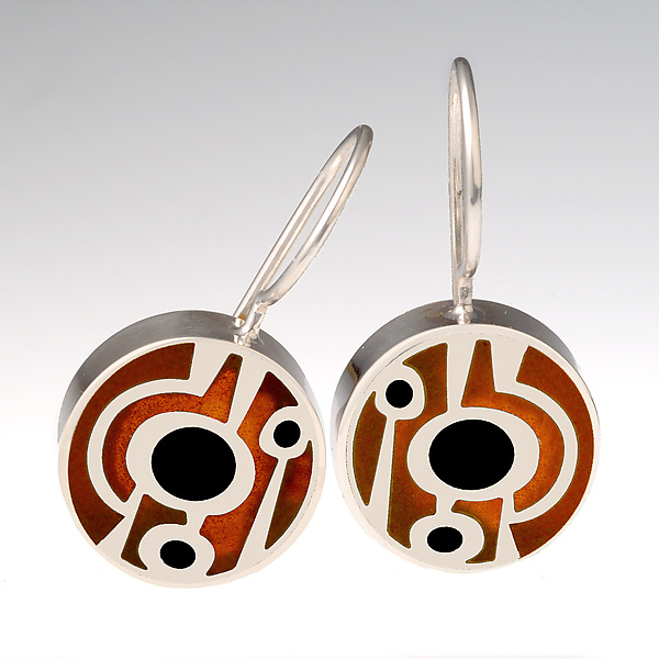 Abstract Lollipop Earrings