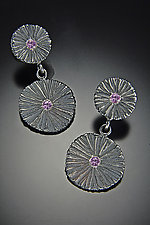 Double Shield Earrings by Dahlia Kanner (Silver & Stone Earrings)