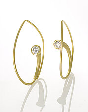 Vortex Earrings by Ayesha Mayadas (Gold & Stone Earrings)