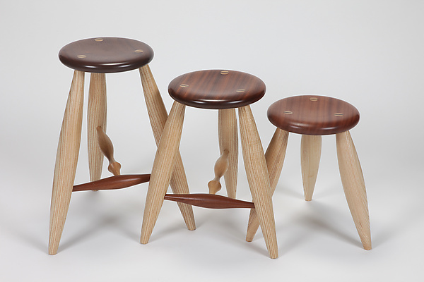 T-Rung Stool and Short Stool