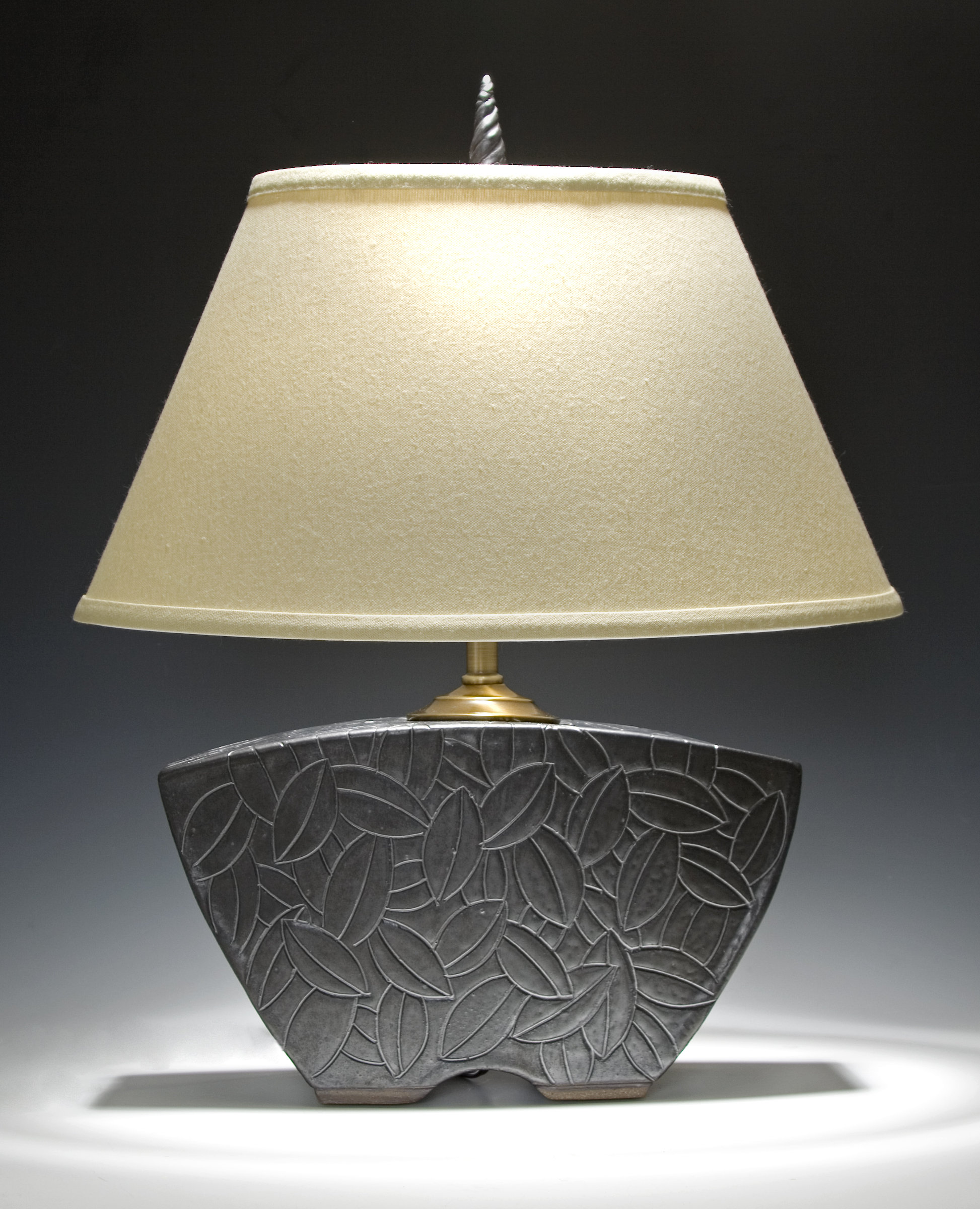 keystone lamp by jim and shirl parmentier ceramic table. Black Bedroom Furniture Sets. Home Design Ideas