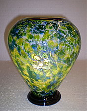Impressionist Lamp by Curt Brock (Art Glass Table Lamp)