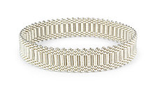 Silver Passementerie Bangle Bracelet by Mackenzie Law (Silver & Steel Bracelet)