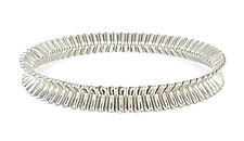 Palladium Ruffle Bangle Bracelet by Mackenzie Law (Palladium & Steel Bracelet)