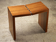 Teak Stool by Laura Rittenhouse (Wood Stool)