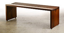 Teak Bench by Laura Rittenhouse (Wood Bench)