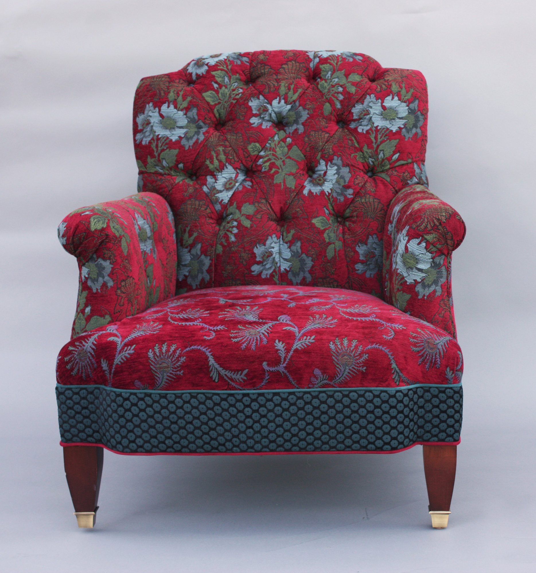 Art Nouveau Home Decor Chelsea Chair In Red Wine By Mary Lynn O Shea Upholstered