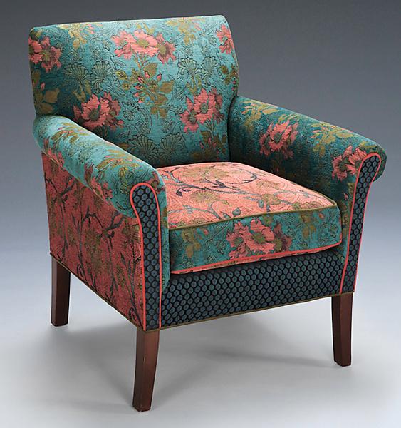Salon Chair in Zinnea by Mary Lynn OShea Upholstered Chair