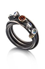 Vine Ring by Christine Mackellar (Silver & Stone Ring)
