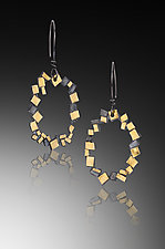 Oval Confetti Earrings by Lori Gottlieb (Gold & Silver Earrings`)