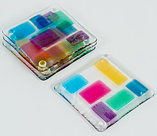 Jewel Toned Coasters by Renato Foti (Art Glass Coasters)