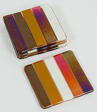 Pinstripe Coasters by Renato Foti (Art Glass Coasters)