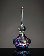 Stained Glass Elegant Perfume Bottle by Bryce Dimitruk (Art Glass Perfume Bottle)