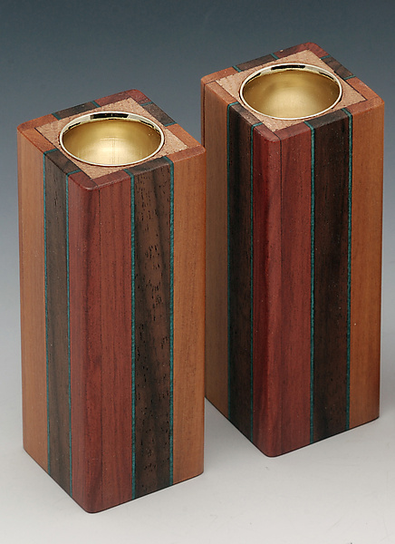 3-Stripe Candle Holders