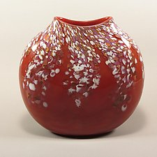 Wisteria Disc by Mark Rosenbaum (Art Glass Vase)