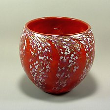 Round Wisteria Bowl by Mark Rosenbaum (Art Glass Bowl)