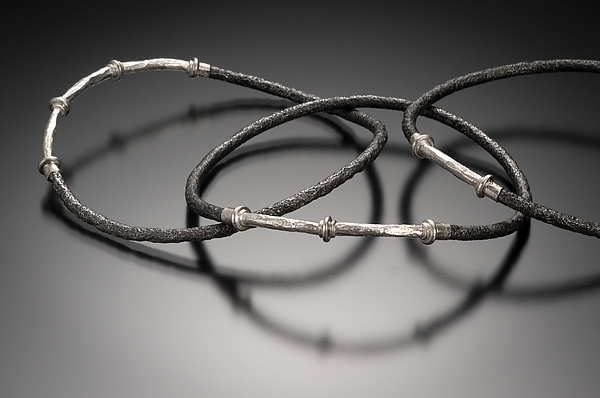 Pitted Fencewire Bangles