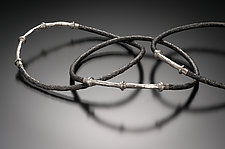 Pitted Fencewire Bangles by Robin Cust (Palladium & Steel Bracelet)