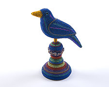 Blue Bird by Kathy Wegman (Beaded Sculpture)