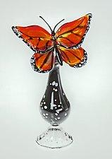 Monarch Bottle by Loy Allen (Art Glass Perfume Bottle)