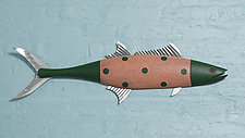 King Mackerel by Paul Sumner (Wood Wall Sculpture)