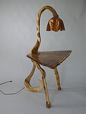 Table Lamp by Charles Adams (Wood Side Table)