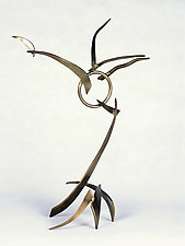 Small Crane Dance by Charles McBride White (Metal Sculpture)