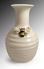 Bee Vase by Lisa Scroggins (Ceramic Vase)