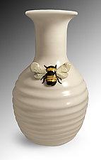Bee Vase by Lisa Scroggins (Ceramic Vase)