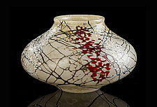 Cherry Blossom Seed Pot by Bryce Dimitruk (Art Glass Vase)